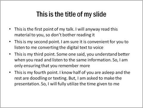 bullet point filled slide