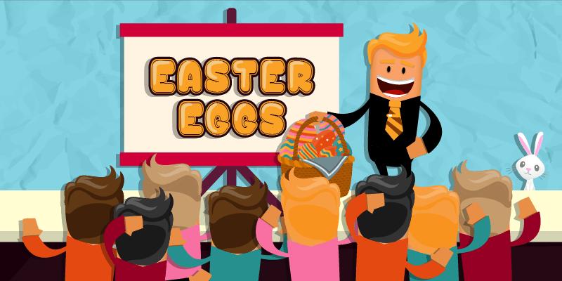 let the hunt begin | easter eggs